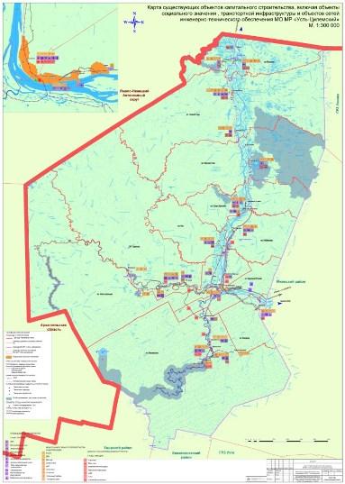 Карта границ поселений